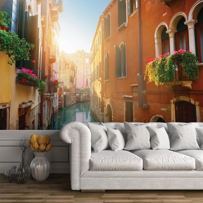 Street Canal Venice Wall Mural Italy Wallpaper Bedroom