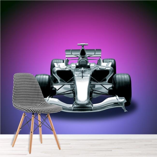 Race Car Wall Mural Purple Wallpaper Boys Bedroom Photo Home Decor