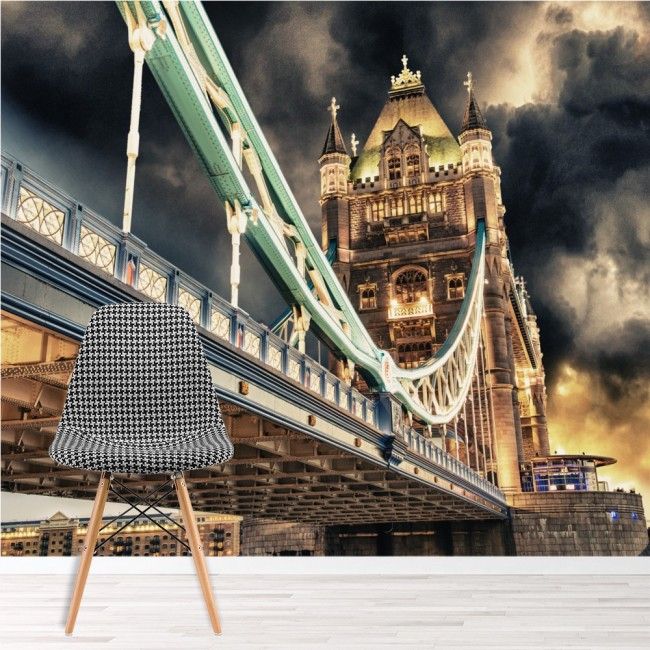 Tower bridge wall mural london landmark wallpaper for Cityscape murals photo wall mural