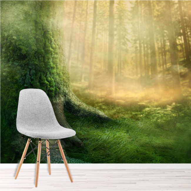 Magical Tree House Wall Mural Fantasy Forest Wallpaper Girls Bedroom ...