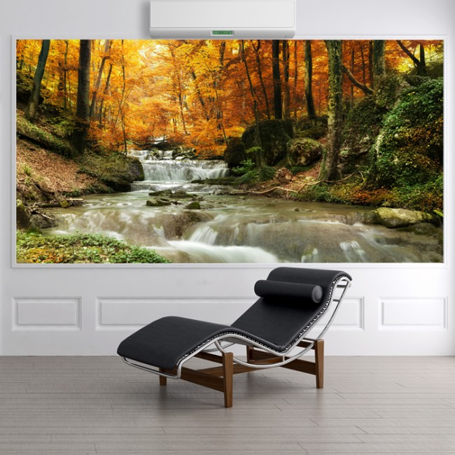Waterfall Autumn Trees Wall Mural Forest Wallpaper Living