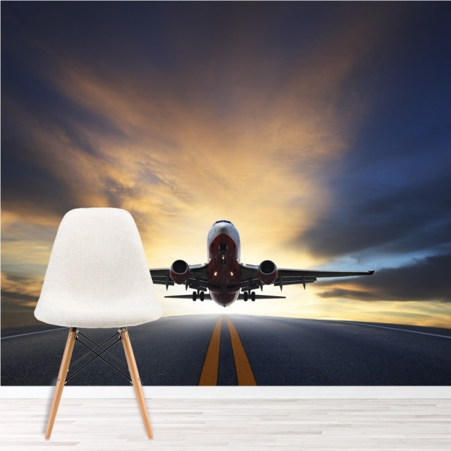 Aeroplane wall mural airplane transport wallpaper travel for Aviation wall mural