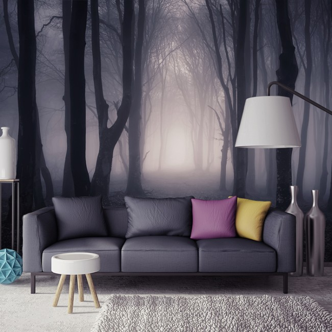 Delicieux Dark Misty Woods Wall Mural Forest U0026 Trees Wallpaper Bedroom Photo Home  Decor