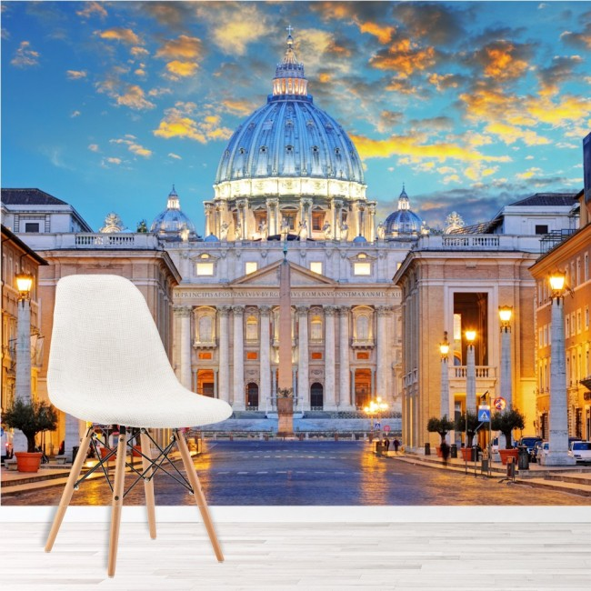 St Peter Cathedral Vatican Rome Italy 3D Wall Art Sticker Mural Decal Poster GA6