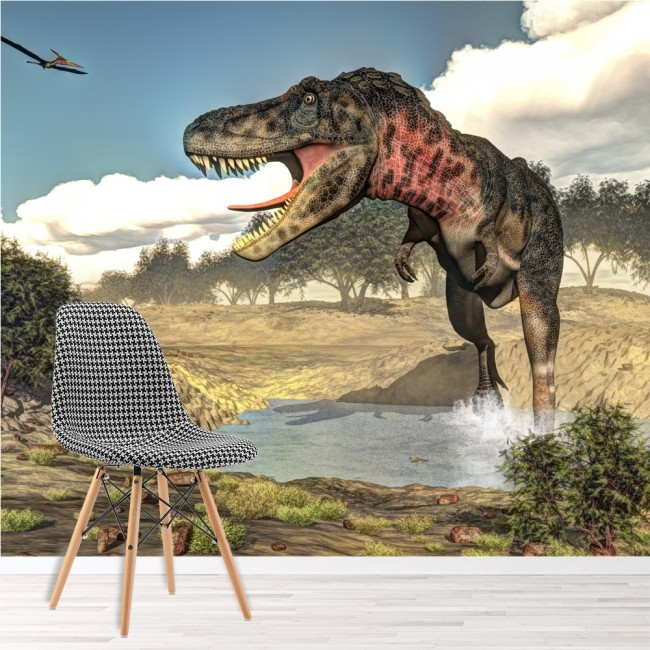 Dinosaur Wall Mural Tarbosaurus Jurassic Wallpaper kids Bedroom