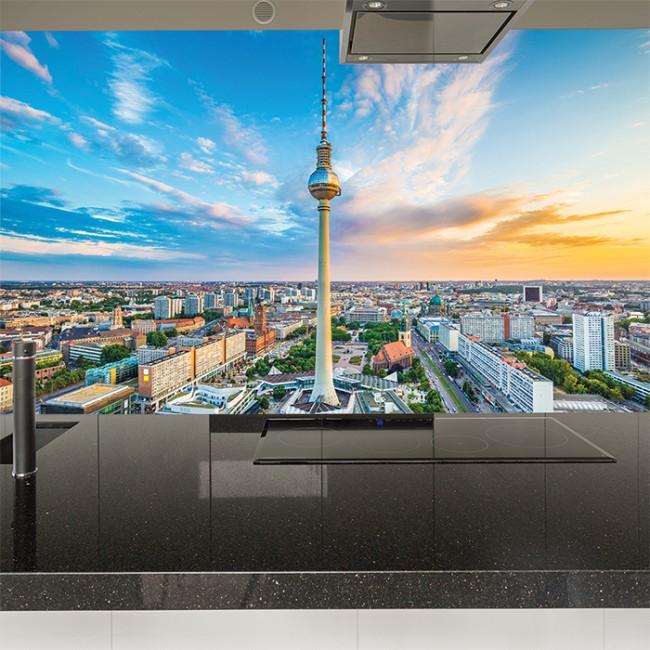 Berlin sunset wall mural city skyline wallpaper germany for City skyline wall mural
