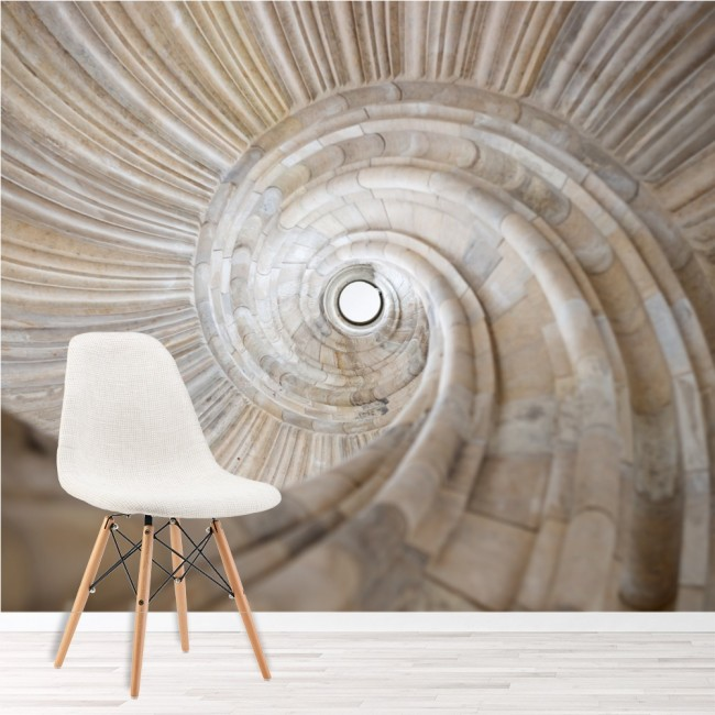 Stone Spiral Wall Mural 3D Wallpaper Living Room Bedroom Photo Home ...