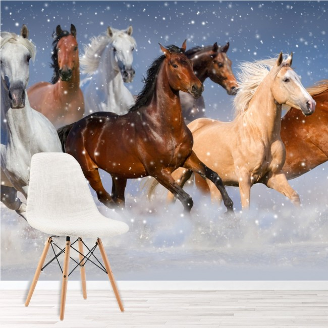 Horse Wall Mural Wild Animal Nature Wallpaper Girls Bedroom Photo Home Decor