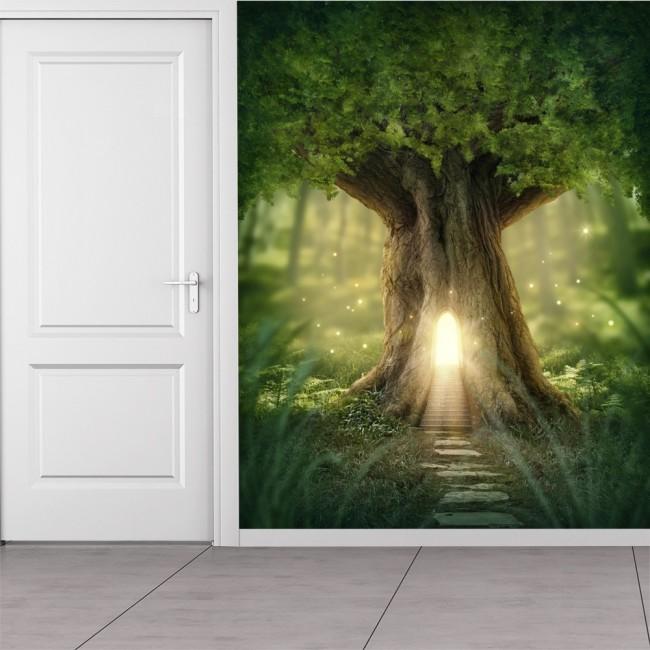 Enchanted Forest Wall Mural Photo Wallpaper Magic Fantasy World Trees