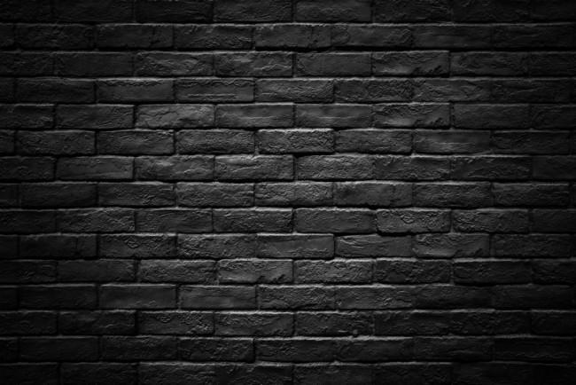 Dark Black Brick Stone Wall Texture Wallpaper Wall Mural