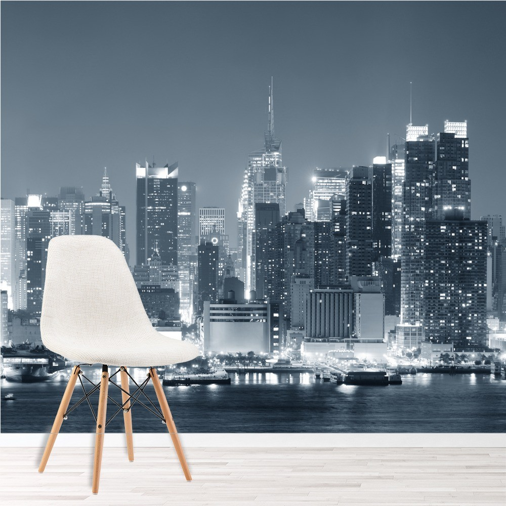 Skyscrapers New York Wall Mural Black White Wallpaper Living Room