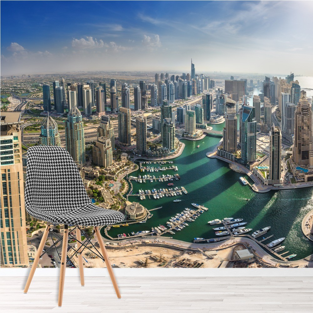 Dubai Cityscape Wall Mural City Skyline Wallpaper Office Bedroom
